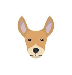 multicolor simple dog head silhouette vector image vector image