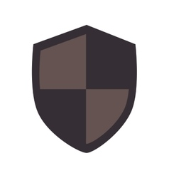 shield protection insignia vector image vector image