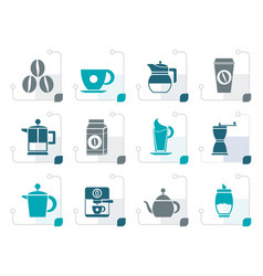 stylizedcoffee industry signs and icons vector image vector image