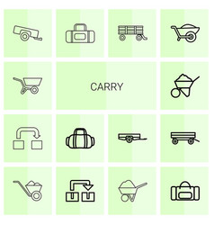 14 carry icons vector