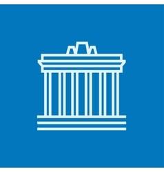 Acropolis athens line icon vector