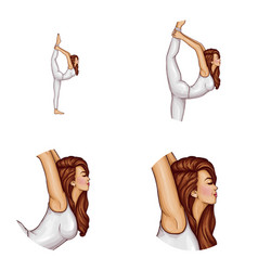 avatar of girl does gymnastics yoga vector image
