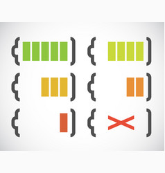 battery charge indicators vector image