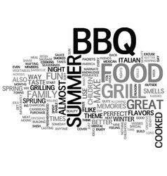 bbq food is the mental cue that summer is here vector image vector image