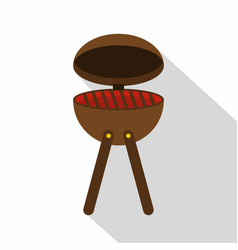 bbq party grill icon flat style vector image