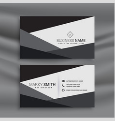 black and white geometric business card design vector image