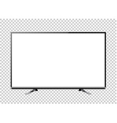 Black led television screen blank on background vector