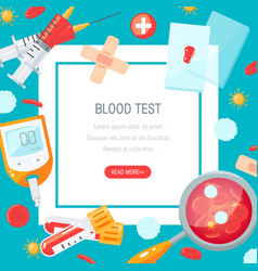 blood test concept design in flat style vector image