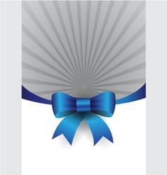 blue ribbon design element vector image