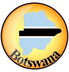 button Botswana vector image