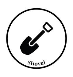 Camping shovel icon vector image