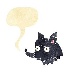 Cartoon unhappy dog with speech bubble vector