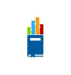 chart book logo icon design vector image
