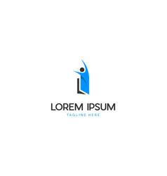 Child education learning logo design vector