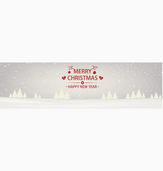 christmas and new year snowbound white background vector image