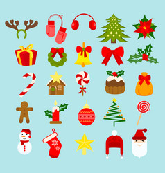 christmas new year holiday vector image