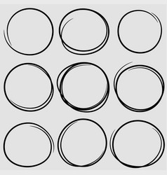 circular scribble doodle round circles for message vector image