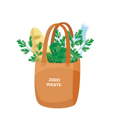 cloth shopping bag full of vector image