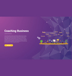 Coaching concept for website template landing vector