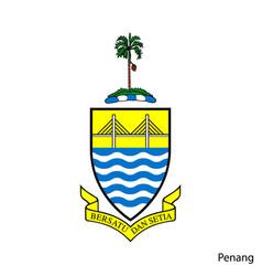 Coat arms penang is a malaysian region vector