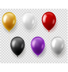 colorful balloons set round balloon flying toys vector image