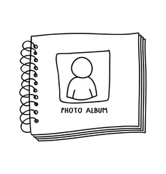 Contour monochrome with photo album vector