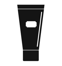 Cosmetic tube of cream or gel icon simple vector