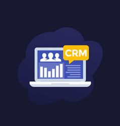Crm system software app vector