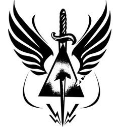 dangerous dagger vector image