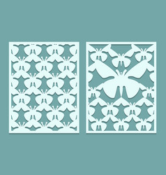 die and laser cut ornate lace panels patterns with vector image