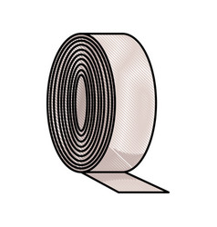 drawing medicine tape bandage roll equipment vector image