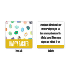 easter postcard with different eggs vector image