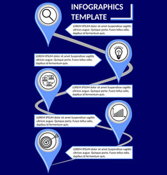 elegant infographic timeline template abstract vector image