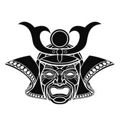 fearsome samurai mask vector image