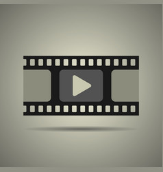 film strip icon video icon vector image