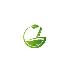 G letter herbal logo with green gradient vector