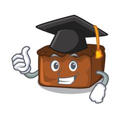 Graduation brownies character cartoon style vector