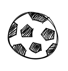 hand draw football ball isolated vector image