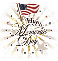Happy memorial day usa vector
