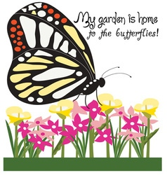Home To Butterflies vector image
