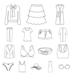 isolated object of woman and clothing symbol set vector image