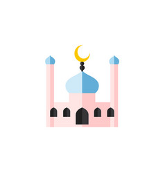 Isolated traditional flat icon muslim vector