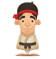 karate boy vector image