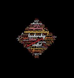 Leadership word cloud vector