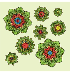 Mandala set one vector