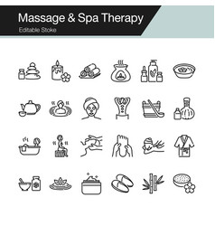 Massage and spa therapy icons modern line design vector