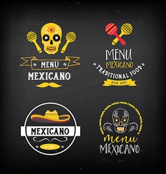 Menu mexican logo and badge design vector image
