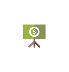 money template flat icon isolated vector image