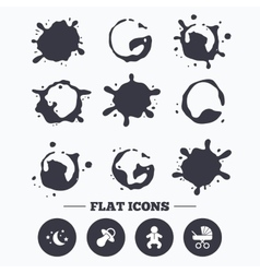 Moon and stars Baby infant icon Buggy dummy vector