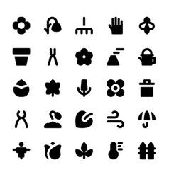 Nature and ecology solid icons 2 vector